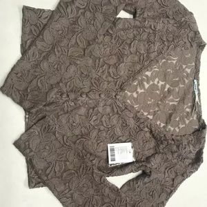 NWT Kimchi Blue Lace cropped button up size small